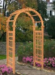 Garden Arch Plans by Bosmere English Garden 53 In X 79 In Victorian Wood Arbor With