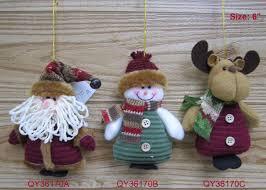 6 felt applique ornament santa claus snowman reindeer set