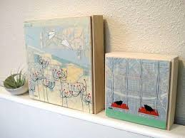 san francisco map painting san francisco map painting with birds and poppies golden