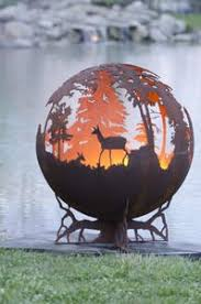 Sphere Fire Pit by Fire Pit Spheres Hidden Angel Themed Fire Pit Artistic