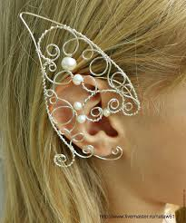 cuff earrings ear cuff with pearl earrings pearl earrings cuff elven ears