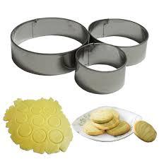 cercle de cuisine 3 pcs en acier inoxydable ronde cercle fondant cutters moule à cake
