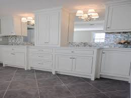 long glass tile backsplash paint color with white cabinets