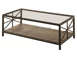 Rustic Metal Coffee Table Avondale Rustic Rectangular Cocktail Table 701398 Seaboard