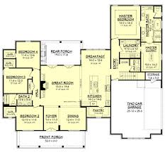 Acadian Style Floor Plans by Farmhouse Style House Plan 4 Beds 2 5 Baths 2686 Sq Ft Plan 430