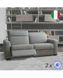 canap relax moderne canapé bleu 2 ou 3 places relax électrique têtières réglables