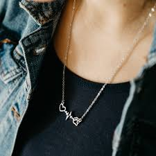 belgian sheepdog jewelry heartbeat paw necklace u2013 iheartdogs com