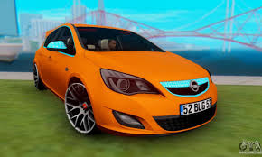 opel orange opel astra j team for gta san andreas