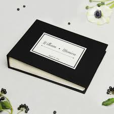 photo album guest book wedding guest book album black with paper label empty pages liumy