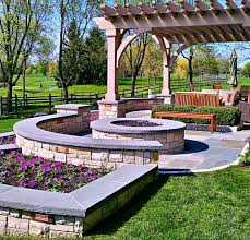 Corner Fire Pit by Outdoor Fire Pit Seating Ideas Quiet Corner