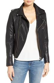 womens leather motorcycle jacket lamarque leather jackets nordstrom