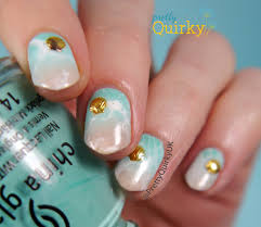 sea shell nail art water spotted beach nails tutorial youtube