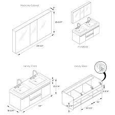 Vanity Dimensions Standard Bathroom Cabinets Dimensions Peenmedia Com