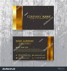 Wood Texture Business Card Vector Creative Leaf Business Card Gold Stock Vector 458292376
