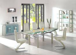 glass dining room tables and chairs popular modern glass dining room table the chemistry white dining