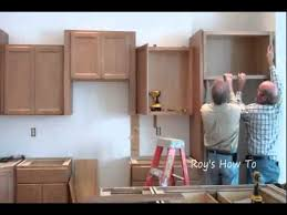 installation kitchen cabinets installing kitchen cabinets youtube