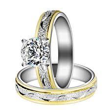 wedding rings steel images Herinos women engagement rings set stainless steel jpg