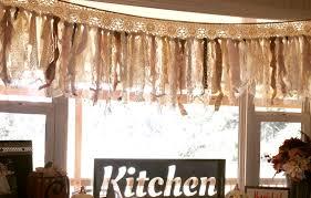 custom romantic antique lace burlap rag valance fabric garland
