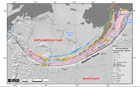 map of aleutian islands earthquake shakes aleutian islands imageo
