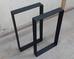 Wood Table With Metal Legs Steel Table Legs Etsy