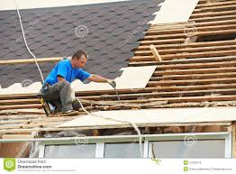 roofing work with flex roof royalty free stock images image