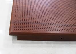 custom wooden dropped clip in ceiling panels 2x2 with heat transfer