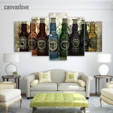 aliexpress com buy 5 piece canvas art hd print wine bottle