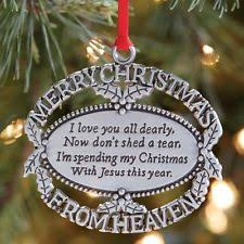 merry christmas from heaven pewter ornament loved one memorial