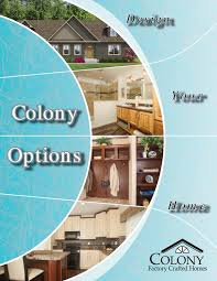 colony homes option brochure 2016 by the commodore corporation issuu