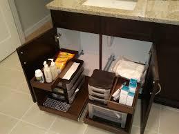 organizing deep bathroom cabinets inside bathroom cabinets