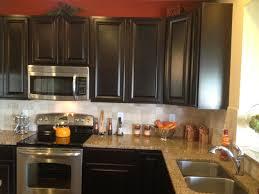 amazing kitchen stone backsplash dark cabinets