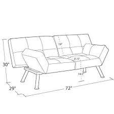 couch measurements mainstays contempo tufted futon couch multiple colors walmart com