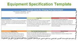 equipment specification template for automation projects