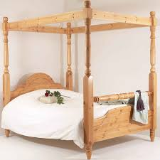 realwoods solid pine bed u0027the classic rail four poster u0027 double