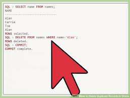 Delete All Rows From Table 4 Ways To Delete Duplicate Records In Oracle Wikihow