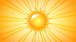 rotating sun with rays on yellow background 4k ultrahd motion