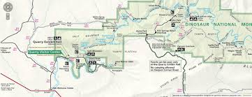 Colorado National Monument Map by Dinosaur National Monument