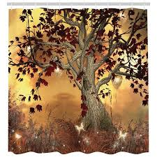 old twisted tree fabric shower curtain extra long 84 inch bathroom