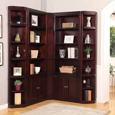 Corner Bookcases House Boston Corner Bookcase Merlot Hayneedle