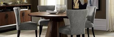 grey and gold dining room crate and barrel