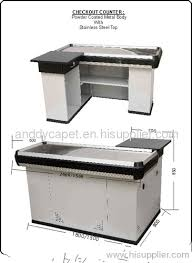Supermarket Cash Desk Design Checkout Counter Supermarket Checkout Counter For Sale