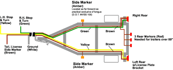 led trailer lights wiring 4 wire tail light diagram wiring diagram