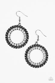 grunge earrings paparazzi accessories grunge and glitter white