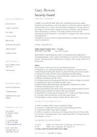 resume for security guard with no experience resume security guard no experience sample create my tips for