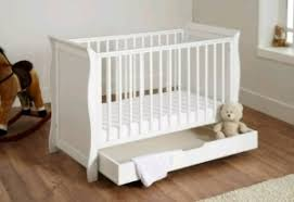 Sleigh Cot Bed White Kiddies Kingdom Mini Sleigh Cot Bed White Free Underbed Drawer