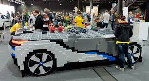 porsche life size life size replica of the bmw i8 concept made out of blocks