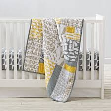 modern mix crib bedding the land of nod