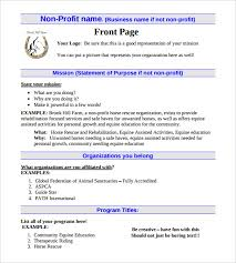 Free Non Profit Business Plan Template by Non Profit Business Plan Template 18 Free Word Pdf Documents