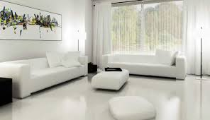 furniture minimalist interior decoration for white living room