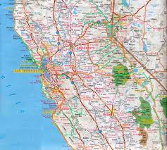 San Francisco County Map by Map Of Northern California California Map